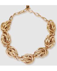 Rosantica - Diva Knotted Gold-tone Chain Necklace - Lyst