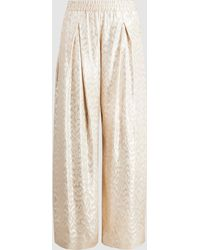 LAYEUR - Silk-blend Palazzo Trousers - Lyst