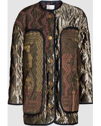 Peter Pilotto - Velvet Quilted Jacket With Contrast Stitching - Lyst