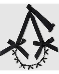 Simone Rocha Bow Crystal Necklace