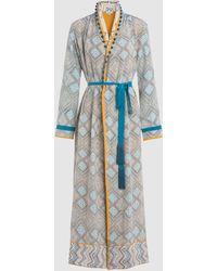 Talitha - Maghreb Printed Silk Robe - Lyst