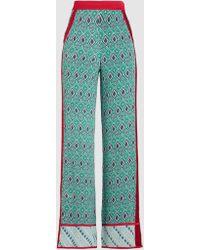 Talitha - Silk Wide-leg Printed Trousers - Lyst