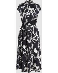 Adam Lippes - Printed Turtleneck Silk Dress - Lyst