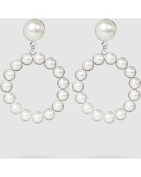 Alessandra Rich - Faux Pear Loop Earrings - Lyst