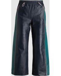 Mira Mikati - Laser-cut Leather Trousers - Lyst