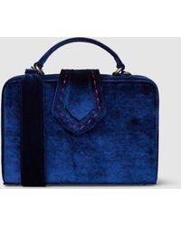 Mehry Mu - Fey Navy Velvet Box Bag - Lyst