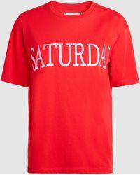 Alberta Ferretti - Saturday Cotton T-shirt - Lyst