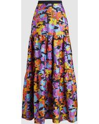 Mary Katrantzou - Bridge Fil Coupe Pop Art Gown Skirt - Lyst