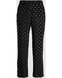 N°21 - Metallic Polka Dot Crepe Trousers - Lyst
