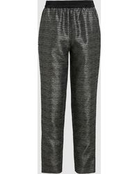 LAYEUR - Metallic Tapered Track Pants - Lyst
