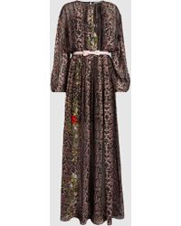 Preen By Thornton Bregazzi - Willow Printed Silk-georgette Gown - Lyst