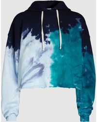 RE/DONE - Cropped Tie-dye Cotton Hooded Top - Lyst