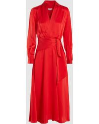 Equipment - Vivienne Silk-blend Wrap-effect Dress - Lyst