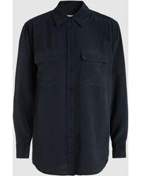 Equipment - Black Signature Long Sleeve Shirt - Lyst