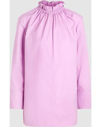 Marni - Poplin Blouse With Ruffle-neck Detail - Lyst