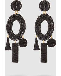 Mercedes Salazar - Femme Gold-tone Raffia Earrings - Lyst