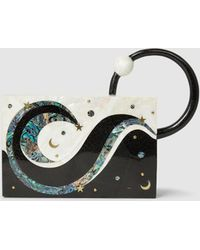 Nathalie Trad - Sybil Shell Clutch With Ring Handle - Lyst