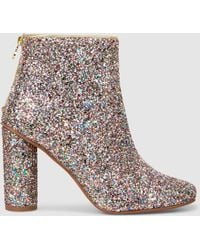 Stine Goya - Luna Glittered Leather Ankle Boots - Lyst