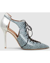 Malone Souliers - Montana Elaphe And Metallic-leather Pumps - Lyst
