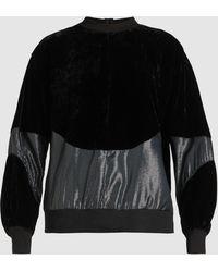 CLU - Lurex Panelled Velvet Sweatshirt - Lyst