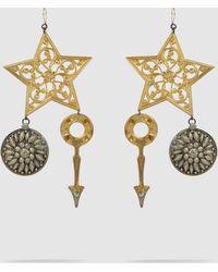 Erickson Beamon - Crystal & Gold-plated Breaker Of Chains Earrings - Lyst