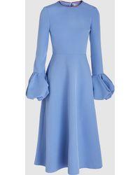 ROKSANDA - Aylin Bell Sleeve Crepe Midi Dress - Lyst