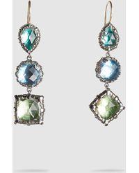Larkspur & Hawk - Sadie Three-drop White Quartz Earrings - Lyst