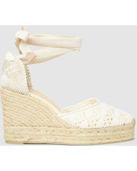 Castaner - Carina Crochet Wedge Espadrille Sandals - Lyst