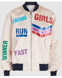Mira Mikati - Run Girl Printed Satin Bomber Jacket - Lyst