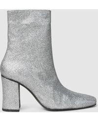 Dorateymur - Sybil Glittered Canvas Ankle Boots - Lyst