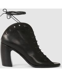 Ann Demeulemeester - Heeled Tie Sandals - Lyst
