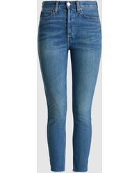 RE/DONE - Originals High Rise Ankle Crop Denim Jeans - Lyst