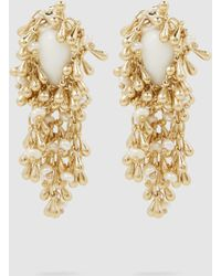 Rosantica - Flapper Pearl-embellished Gold-tone Earrings - Lyst