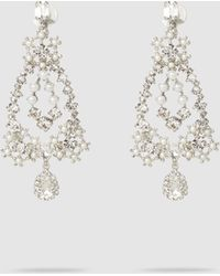 Erickson Beamon - Crystal And Faux Pearl Drop Pendant Earrings - Lyst