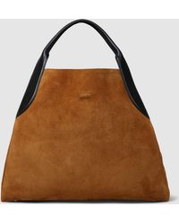 Lanvin - Oversized Suede Tote - Lyst