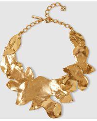 Oscar de la Renta - Foliage Gold-plated Necklace - Lyst