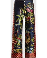F.R.S For Restless Sleepers - Ceo Printed Silk Pyjama Trousers - Lyst