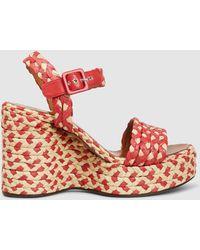Clergerie - Arizona Raffia Wedge Sandals - Lyst