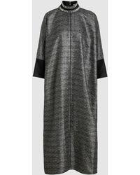 LAYEUR - Metallic Cocoon Maxi Dress - Lyst