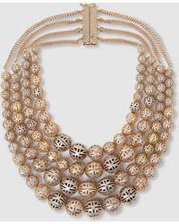 Rosantica - Innocenza Beaded Onyx Gold-tone Necklace - Lyst