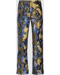 F.R.S For Restless Sleepers - Floral Devoré Lurex Trousers - Lyst