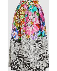 Mary Katrantzou - Bowles Printed Cotton Poplin Skirt - Lyst