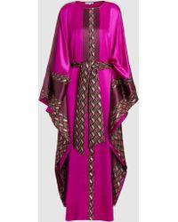 LAYEUR - Silk Raphaella Kaftan Dress - Lyst