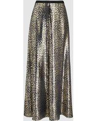 LAYEUR - Barbara A-line Metallic Skirt - Lyst