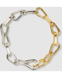 Annelise Michelson - Ellipse Silver And Gold-tone Choker - Lyst