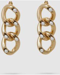 Rosantica - Ingranaggio Pearl-embellished Gold-tone Earrings - Lyst