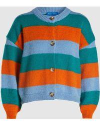 M.i.h Jeans - Jackson Striped Mohair-blend Cardigan - Lyst