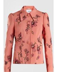 Erdem - Floral Embroidered Peplum Jacket - Lyst