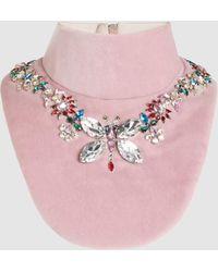 Mary Katrantzou - Crystal-embellished Velvet Bib - Lyst