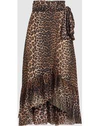 Ganni - Tilden Mesh Maxi Skirt - Lyst